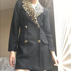 Cache Vintage Leopard Blazer Romper 4/6